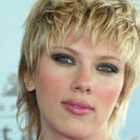 Scarlett Johansson, con el peinado de un camionero del sur de Estados Unidos. Foto:vía Getty Images