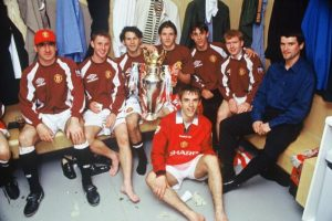 Además de grandes leyendas. ¿Quién olvidará al equipo formado por Eric Cantona, Nicky Butt, Ryan Giggs, David Beckham, Gary Neville, Paul Scholes, Roy Keane y Phil Neville? (Todos aparecen en esta foto). Foto:Getty Images