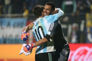 """Ahora, los """"Albicelestes"""" esperan al ganador del Brasil vs. Paraguay. Foto:Getty Images"""