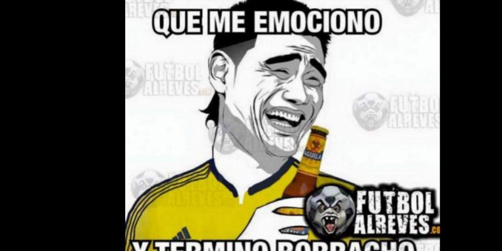 La afición colombiana durante el partido. Foto:memedeportes.com