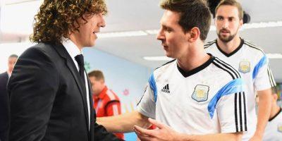Carles Puyol y Lionel Messi coincidieron durante 9 años en el Barcelona. Foto:Getty Images