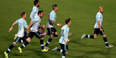 """Argentina. La """"Albiceleste"""" finalizó en primer lugar del grupo B, donde registró triunfos ante Uruguay y Jamaica y un empate contra Paraguay. Foto:AFP"""