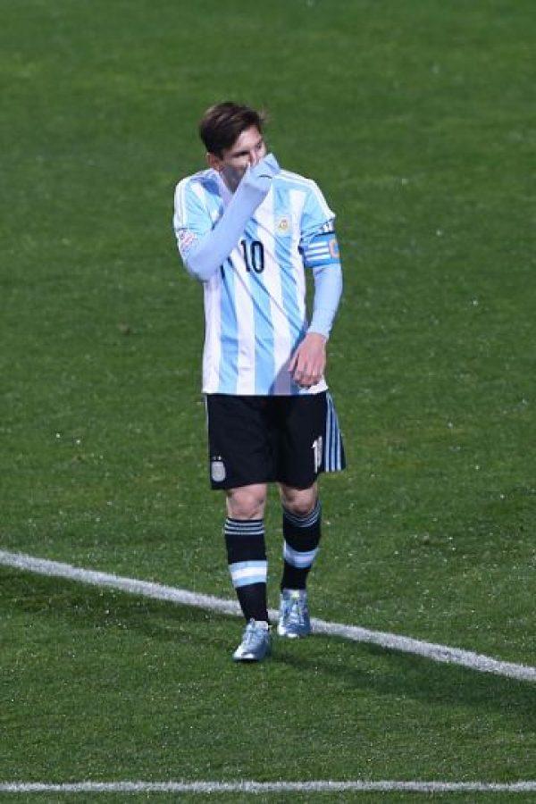 """Aunque no anotó, Leo fue el motor de la """"Albiceleste"""" y tuvo una gran actuación. Foto:Getty Images"""