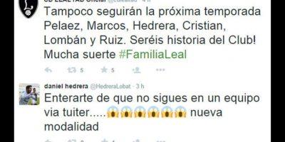 Futbolistas españoles se enteran por Twitter que están despedidos