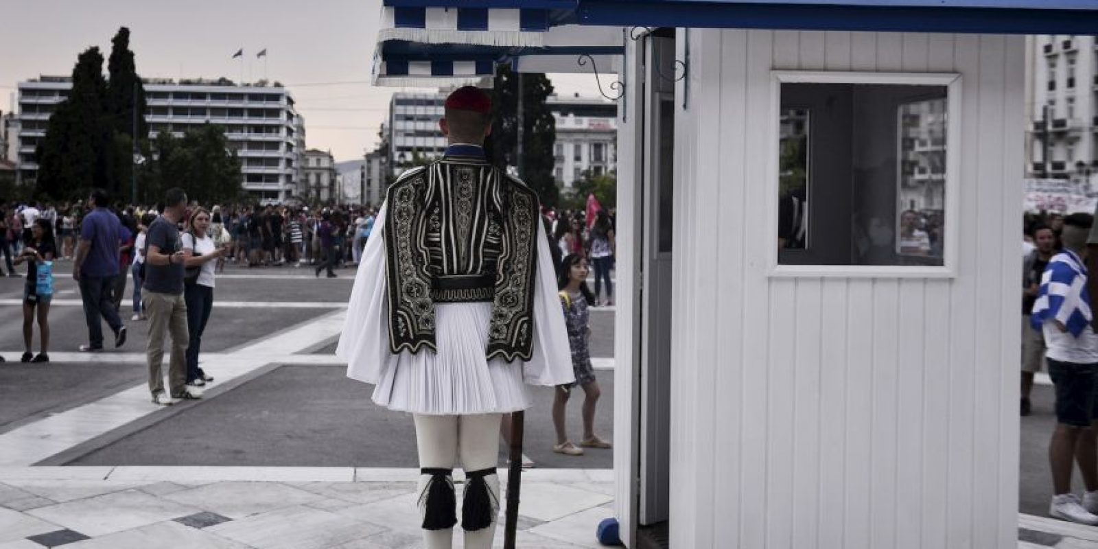 3. Dicha situación podría culminar con la salida de Grecia de la Eurozona. Foto:AFP