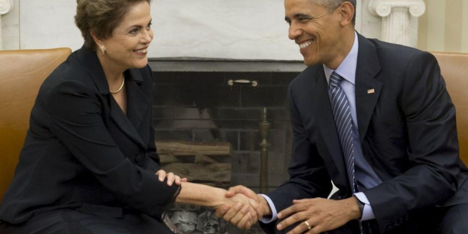 Este martes fue el segundo día de la visita realizada a Washington por la presidenta brasileña Dilma Rousseff. Foto:AFP