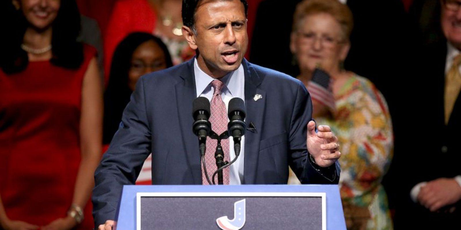 """""""Me llamo Bobby Jindal, soy gobernador del gran estado de Luisiana y voy a competir por ser presidente del país más grande del mundo, los Estados Unidos de América"""" Foto:Getty Images"""