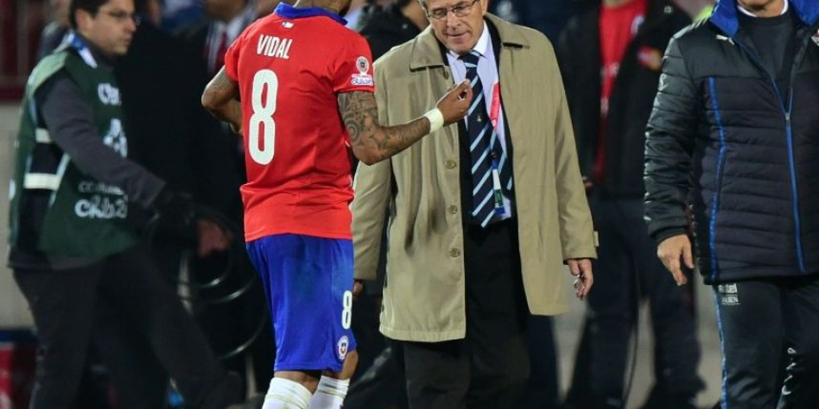 Óscar Washington Tabárez explotó en el partido de Uruguay contra Chile, en los cuartos de final de la Copa América Foto:AFP