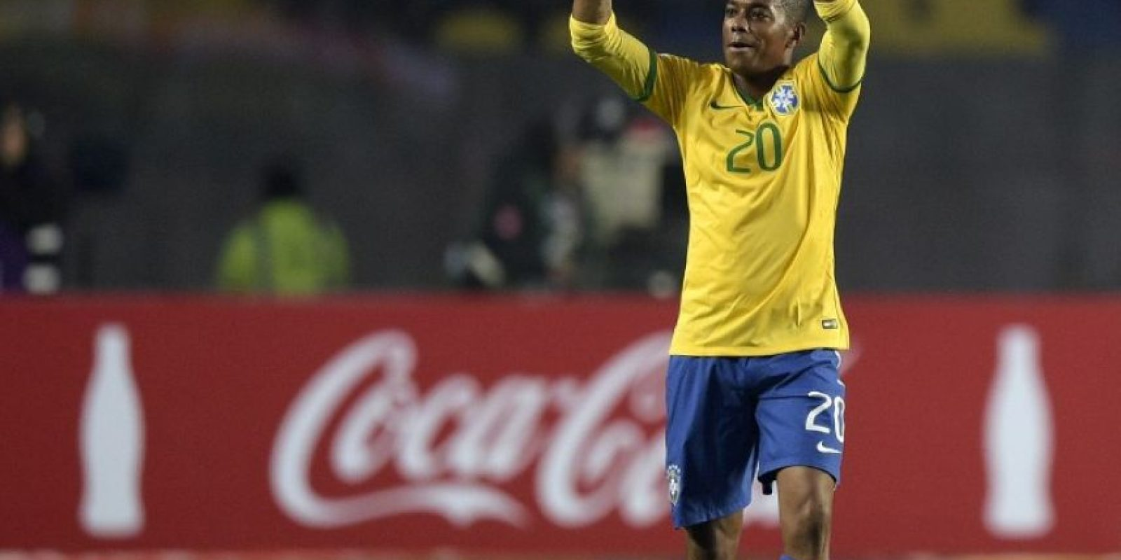 Robinho, después de la eliminación de Brasil ante Paraguay Foto:AFP
