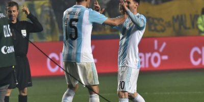 Lo hizo en el debut ante Paraguay, desde el punto penal Foto:AFP