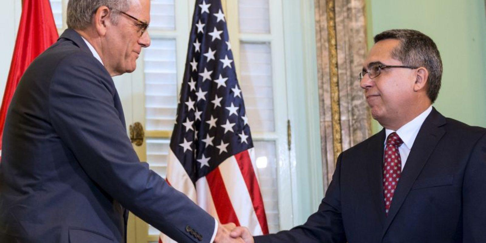 Antes del anuncio, el ministro interino de Relaciones Exteriores de Cuba, Marcelino Medina González, recibió una carta del presidente Barack Obama. Foto:AFP