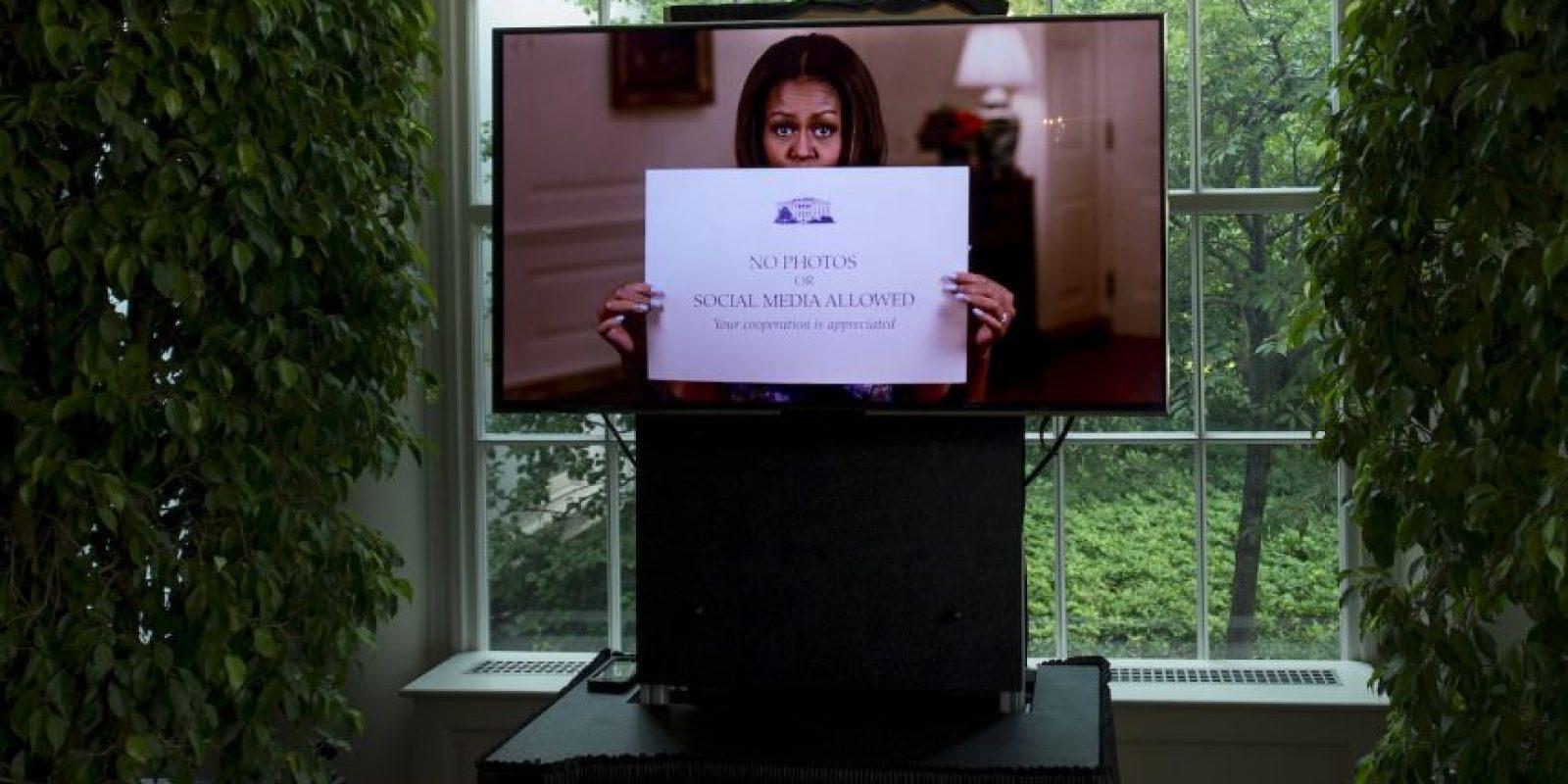 Michelle Obama anunció que la Casa Blanca permitirá hacer fotos. Foto:AFP