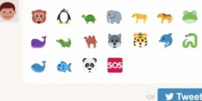El Fondo Mundial para la Naturaleza (WWF) creó la campaña #EndangeredEmoji con la que invitan a usar alguno de los 17 animales en sus tuits y de esa manera donan 11 centavos de dólar para ayudar a su conservación. Foto:WWF