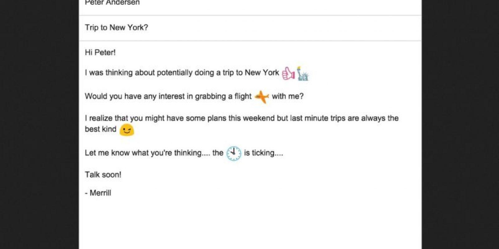 Así se verán los correos con emojis. Foto:Google