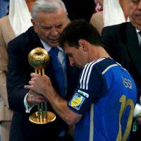 A pesar de la derrota, fue reconocido como el Mejor Jugador del Mundial Foto:Getty Images