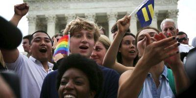Esto ocurrió después de que La Suprema Corte de Estados Unidos hiciera legal en todo el país el matrimonio gay. Foto:Getty Images