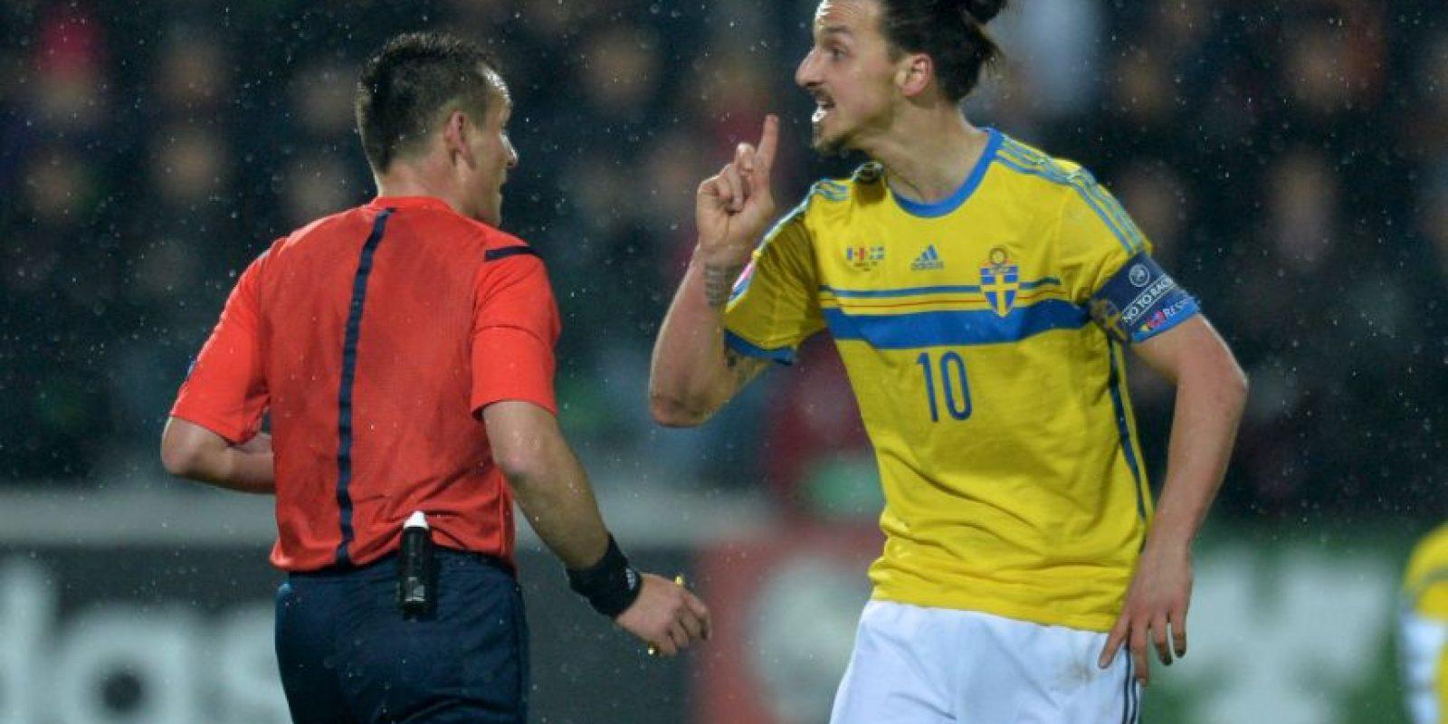 5. En 2013, cuando disputó con Suecia el repechaje de la UEFA ante Portugal, Zlatan Ibrahimovic aseguró que un Mundial sin él no valía la pena, luego de que su equipo fuera eliminado. Foto:AFP