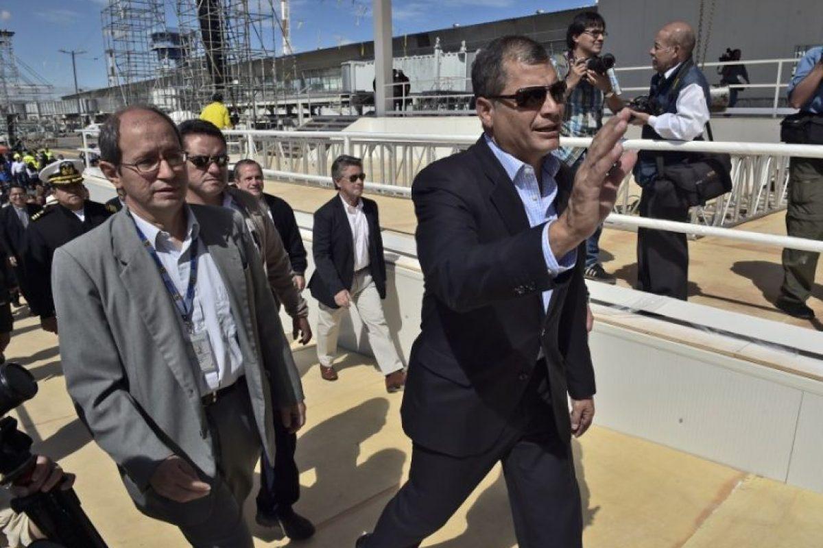 Ecuador: El presidente Rafael Correa visitó el Parque Bicentenario y supervisó las obras Foto:AFP