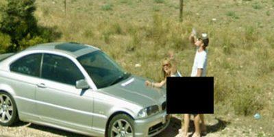 Una pareja en el momento incorrecto. Foto:Google