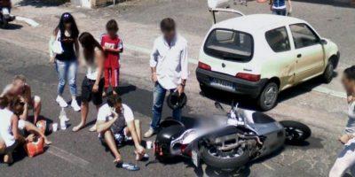 Un choque en la calle. Foto:Google