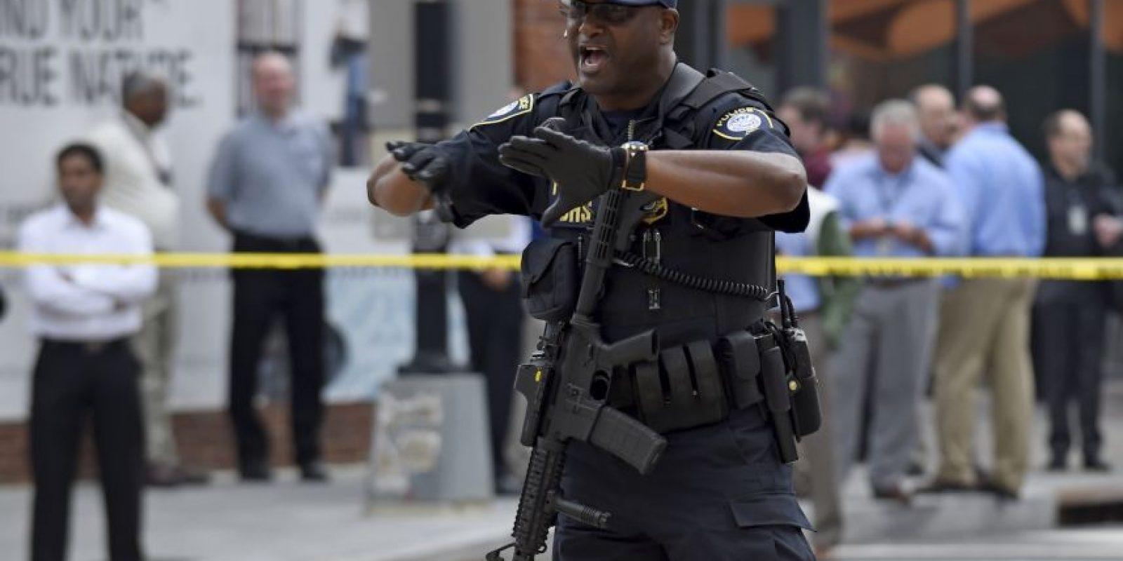 Falsa alarma el ataque contra el astillero Navy Yard de Washington. Foto:AP