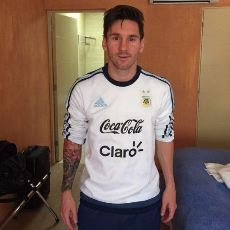 Todo porque después de que hiciera su trabajo, Lionel Messi fue triple campeón. Foto:Vía instagram.com/leomessi