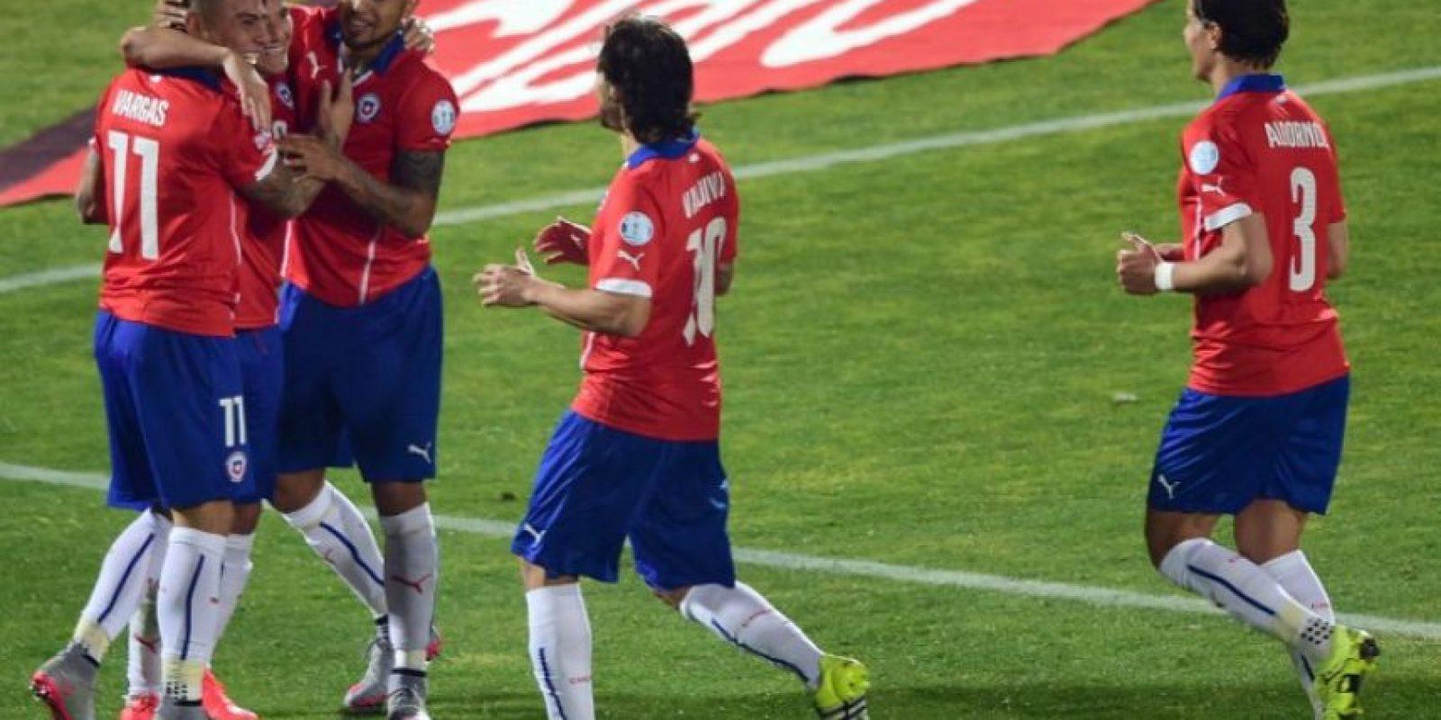 Chile es el combinado más goleador de la copa, con 13 anotaciones. Foto:AFP