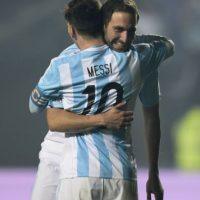 Argentina se fue sin recibir gol en tres partidos: venció Uruguay (1-0) y Jamaica (1-0) y empató en cuartos de final sin anotaciones con Colombia. Foto:AFP