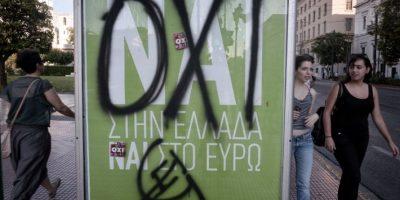 #Oxi contra #Nai: Durante esta semana han existido manifestaciones tanto a favor como en contra de permanecer en la Unión Europea Foto:AFP