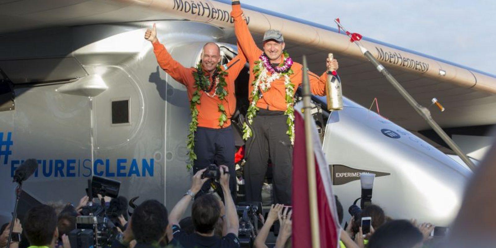El Solar Impulse 2 aterrrizó en Hawai. Foto:AFP