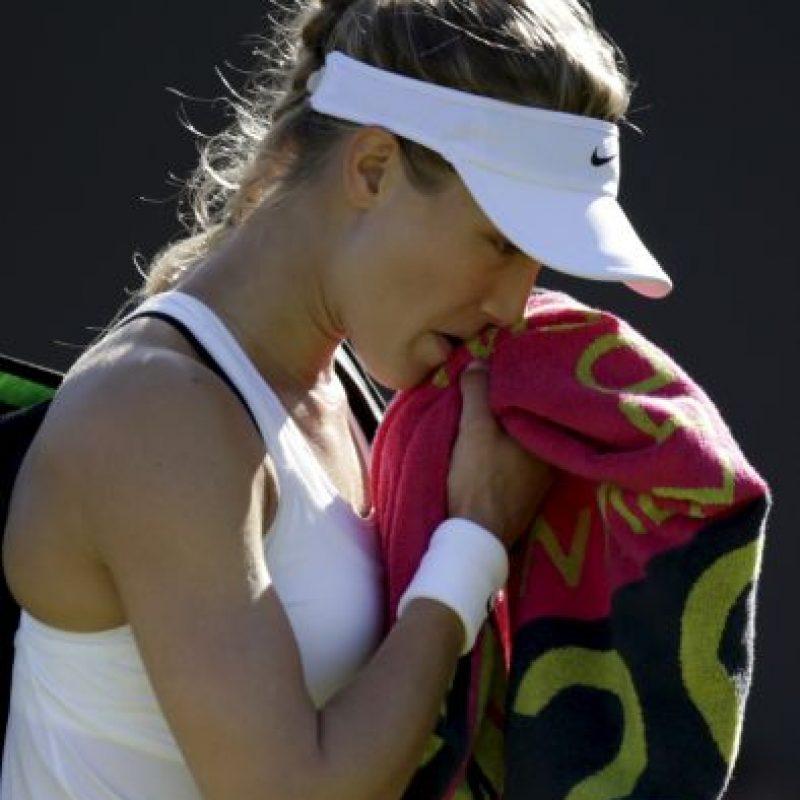 Además, fue amonestada por utilizar un sostén negro Foto:Getty Images
