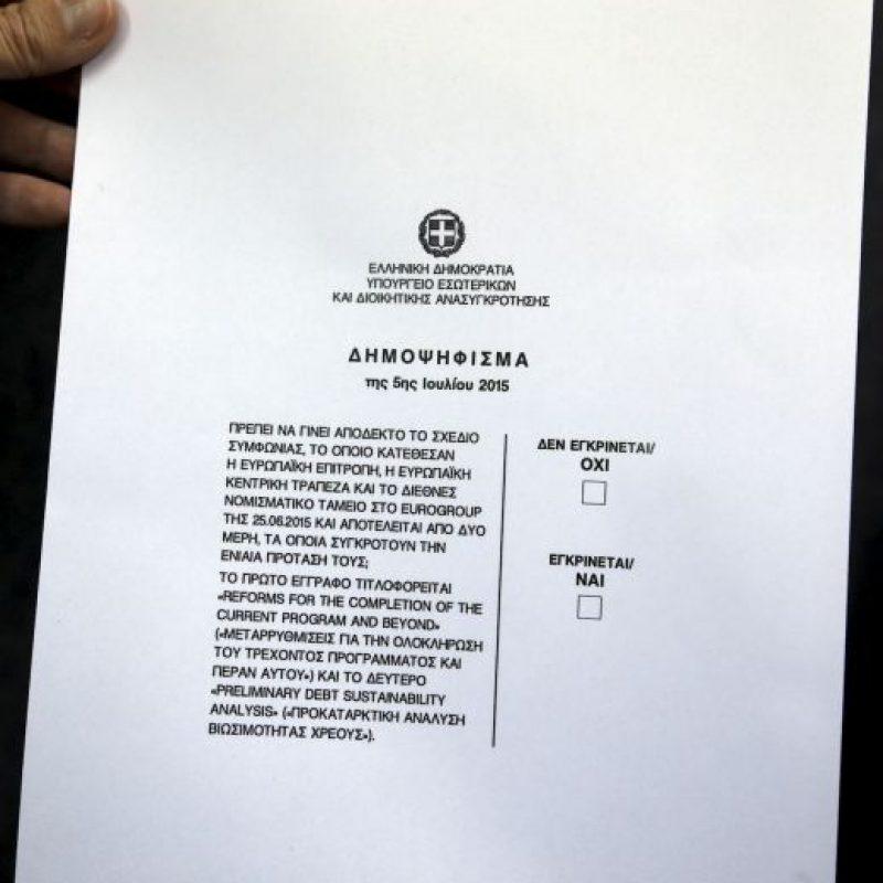 El referéndum está listo para llevarse a cabo el próximo domingo. Tsipras rechazó los rumores sobre su cancelación Foto:AP