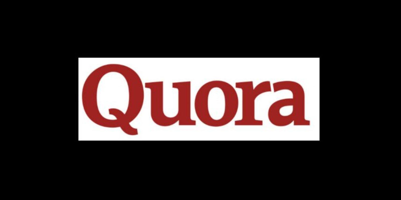 Diseño original de Quora, servicio en línea que añade preguntas y respuestas de diferentes temas y permite a los usuarios colaborar en ellas Foto:Quora