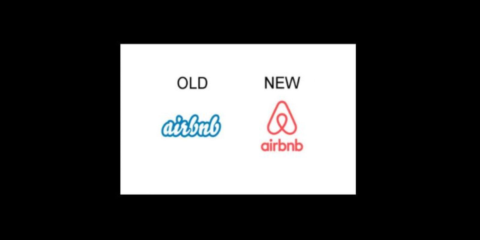 Algunas empresas optan por la renovación completa de su logo, como Airbnb, el servicio para buscar hospedaje en todo el mundo Foto:Airbnb