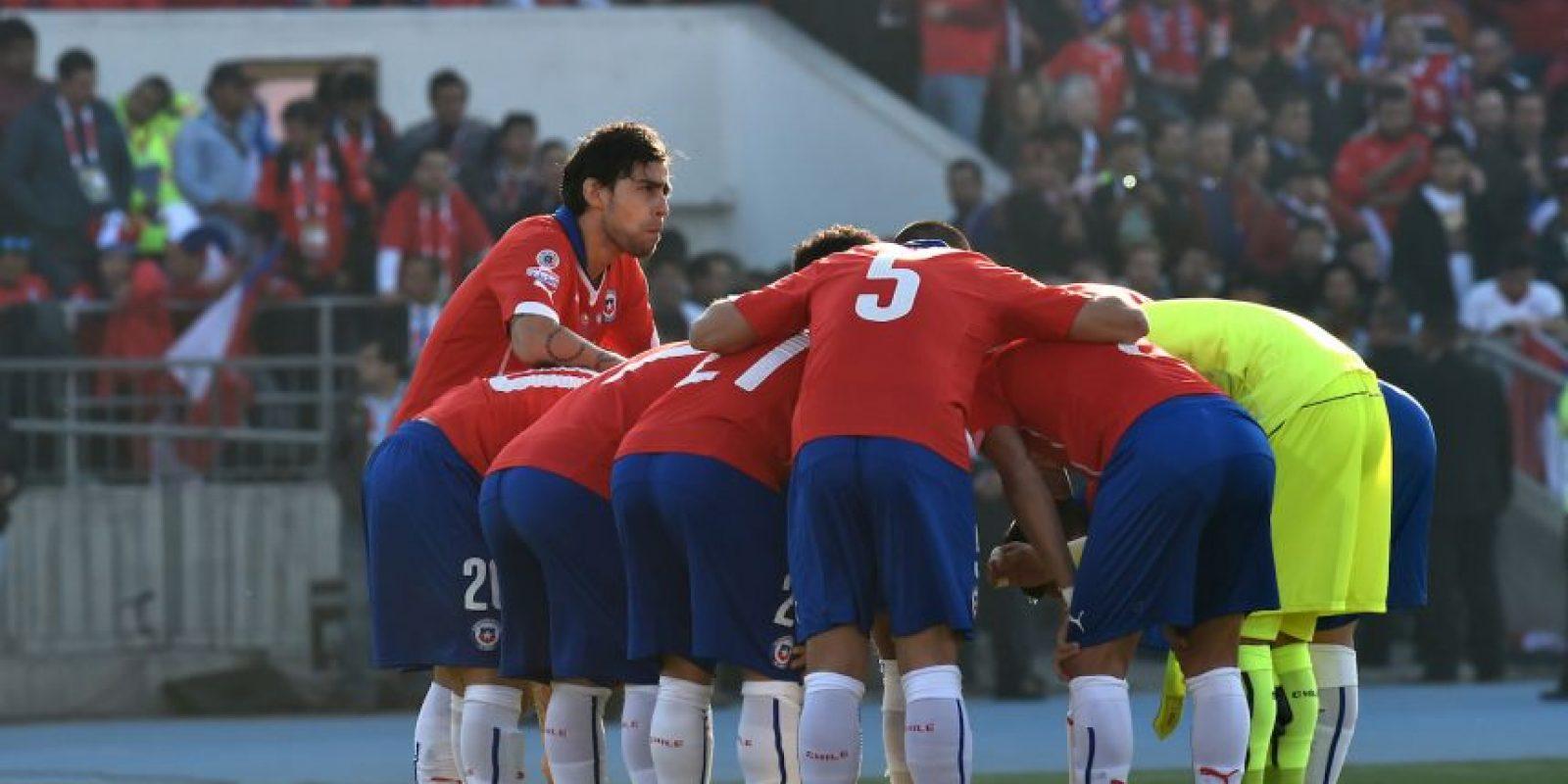 Así inició Chile el primer tiempo Foto:AFP