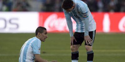 A los 25′ se lesionó Ángel di María Foto:AFP