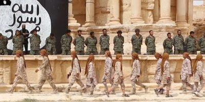 La masacre fue enfrente del teatro romano de Palmira. Foto:AFP