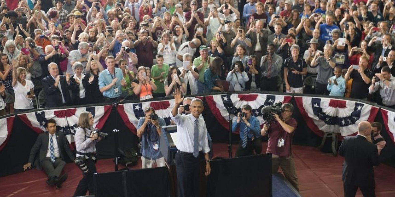 Fue uno de los asistentes en su discurso de La Crosse. Foto:AFP