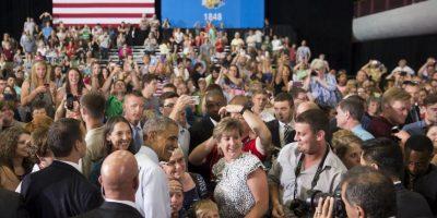 Obama, estaba en Wisconsin promocionando su propuesta para la reforma de pago de horas extras. Foto:AFP