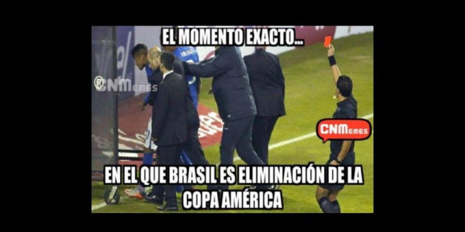 En la gresca entre Colombia y Brasil, Neymar fue expulsado y se perdió el resto de la copa Foto:Twitter