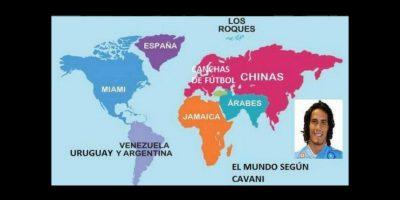 Antes de enfrentar a Jamaica, el charrúa Edinson Cavani indicó que los caribeños se encontraban en África Foto:Twitter