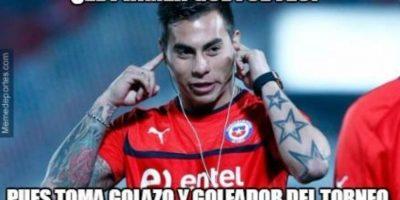 Eduardo Vargas se destapó con un doblete en las semifinales ante Perú Foto:Twitter