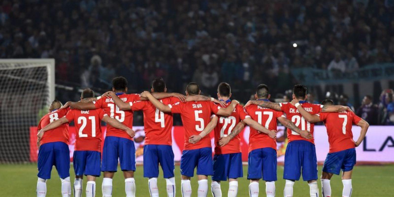 """La """"Roja"""" durante la tanda de lanzamientos penales Foto:AFP"""