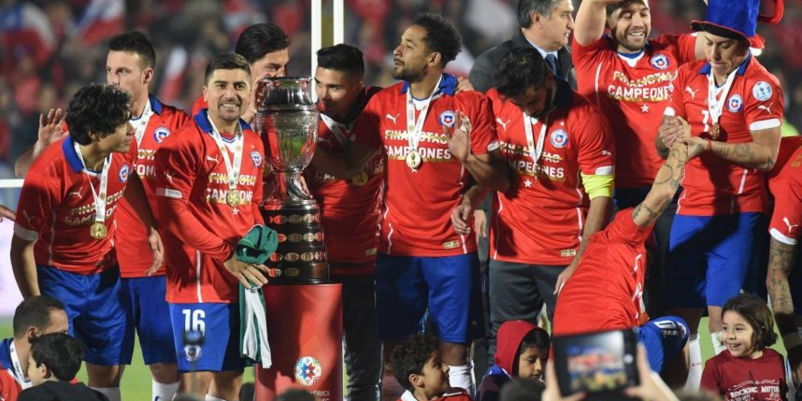 Previo a la entrega de la Copa América Foto:AFP