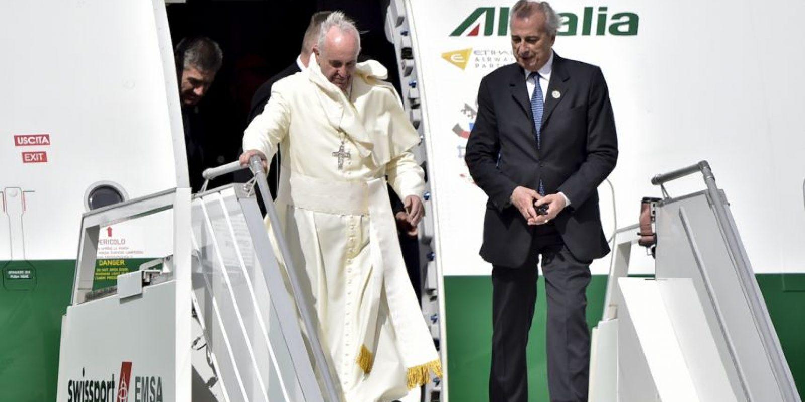 El papa arrivo al rededor de las tres de la tarde tiempo local. Foto:AFP