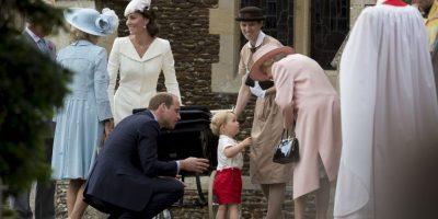 El príncipe George llamo la atención por su ternura y atuendo. Foto:AP