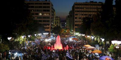 """Grecia celebra la victoria del """"no"""""""