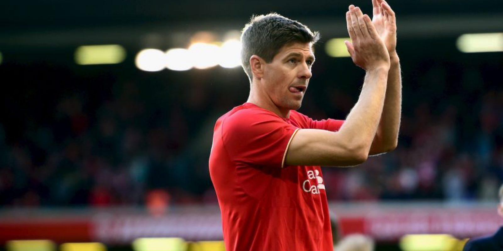 """Apenas en mayo pasado, """"Steve G"""" se despidió del Liverpool. Foto:Getty Images"""