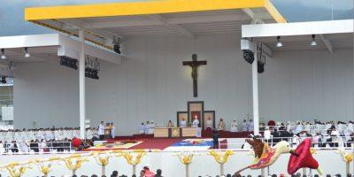 Hoy ofreció una misa ante más de un millón de personas en el Parque Bicentenario, según información del Ministerio del Interior Foto:AFP