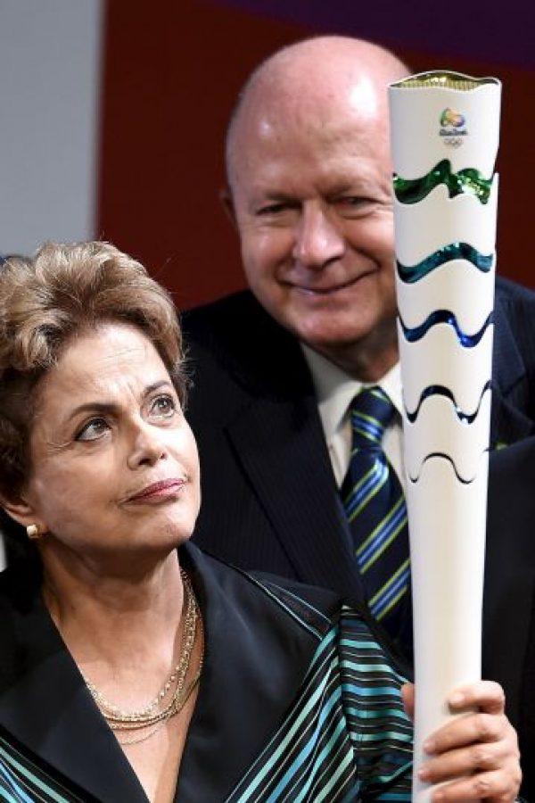 2. Presentó la antorcha que se utilizará en los juegos de Río de Janeiro en 2016 Foto:Getty Images Getty Images